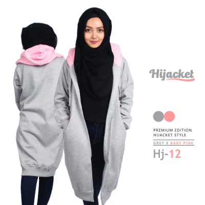 Jaket Muslimah Panjang Bandung HJ-12