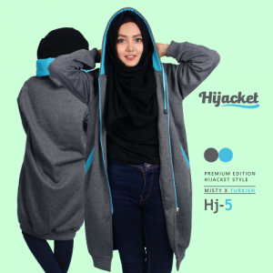 jaket muslimah syari, Jaket Wanita Hijabers, jaket muslimah syar'i