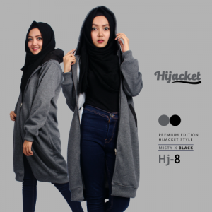 jaket muslimah korean hoodie