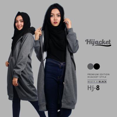 Jaket Muslimah Korean Hoodie HJ-8