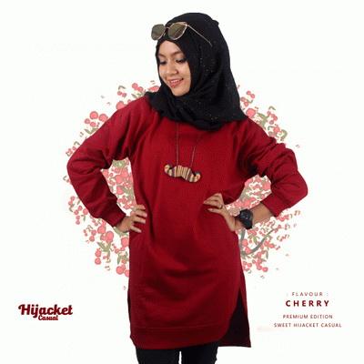 jaket-hijab-casual-maroon, Jaket Hijab Casual Style