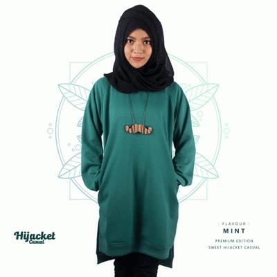 jaket-hijab-casual-mint, Jaket Hijab Casual Style