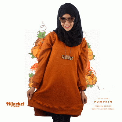 jaket-hijab-casual-orange, Jaket Hijab Casual Style