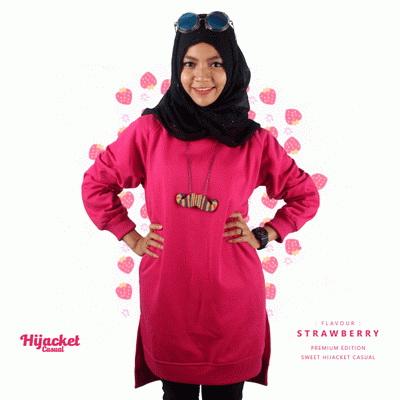 jaket-hijab-casual-pink, Jaket Hijab Casual Style